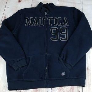 Nautica Fleece Men's Jacket Sz XL Dark Blue Color